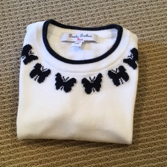 🔴 BROOKS BROTHERS KIDS SWEATER WITH BUTTERFLIES